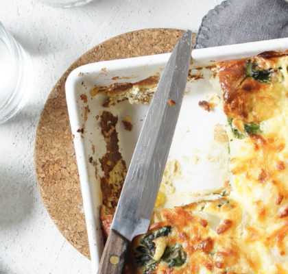 Cheesy Spinach Potato Bake Recipe