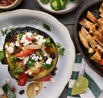Chicken Fajita Stuffed Peppers recipe by rasoi menu