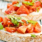 Avocado, Tomato, Olive and Basil Bruschetta Salad