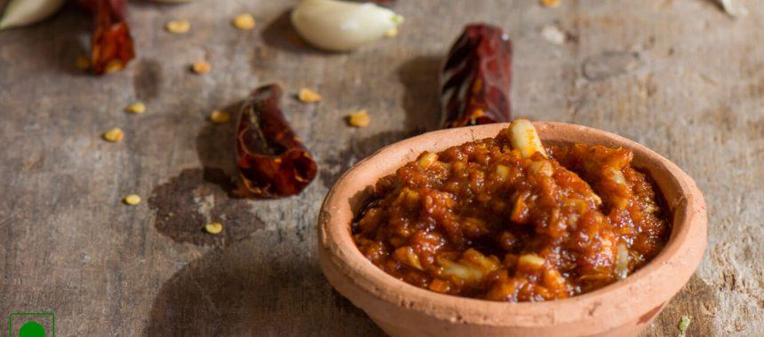 Red Garlic Chutney Recipe