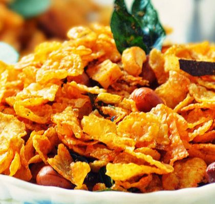 Corn Flakes Chivda recipe by rasoi menu