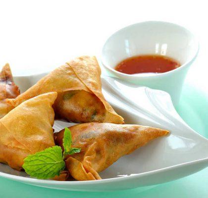 chinese samosa recipe by rasoi menu