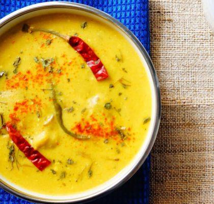 singhare ki kadhi recipe by rasoi menu