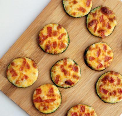 Zucchini Pizza Bites recipe by rasoimenu