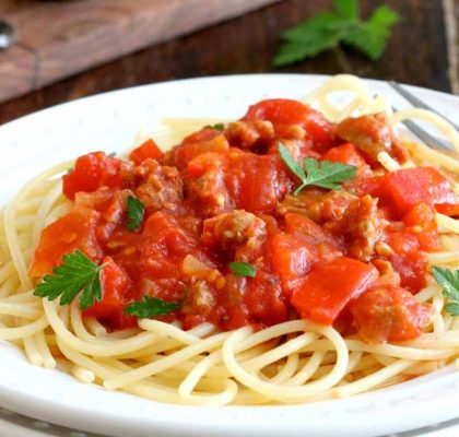 spaghetti with fresh tomatoes recipe by rasoi menu