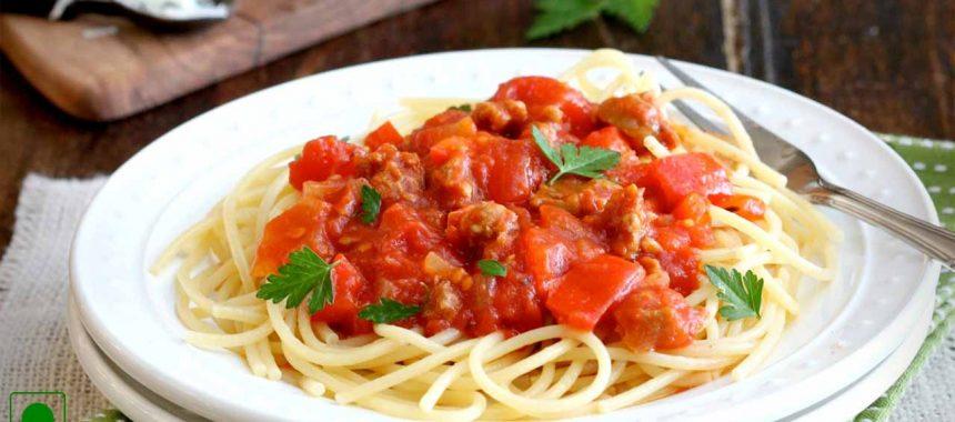 Spaghetti with Fresh Tomatoes Recipe