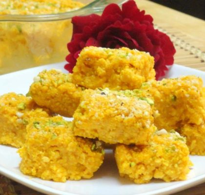 mango coconut barfi by rasoi menu
