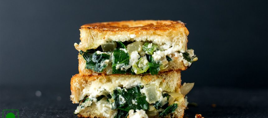 Green Grilled Cheese Sandwich Recipe