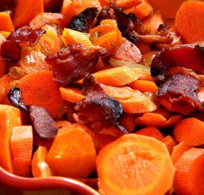 orange-glazed carrots with bacon recipe by rasoi menu