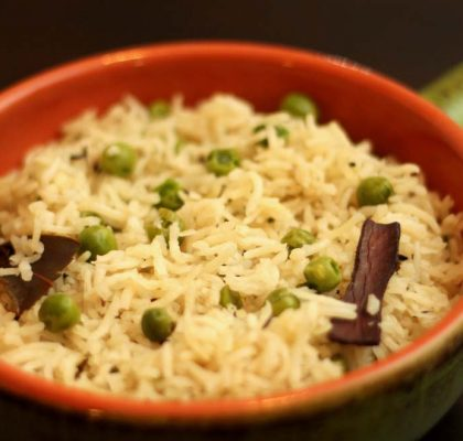 peas pulao recipe by rasoi menu