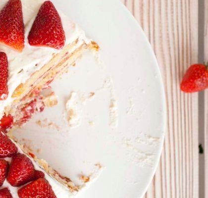 Strawberry Layer Cake recipe by rasoi menu