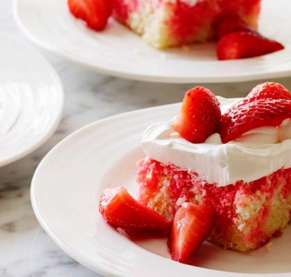 Strawberry Poke Cake Recipe by rasoi menu