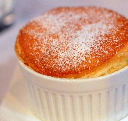 hot orange soufflé by rasoi menu