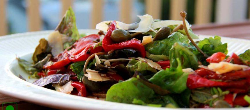 Roasted Capsicum Salad Recipe