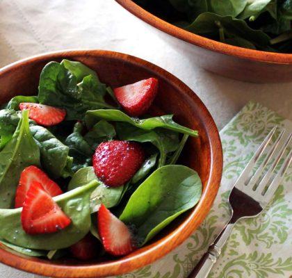 springtime spinach salad recipe by rasoi menu