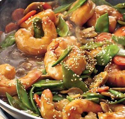 stir fried szechuan prawns by rasoi menu