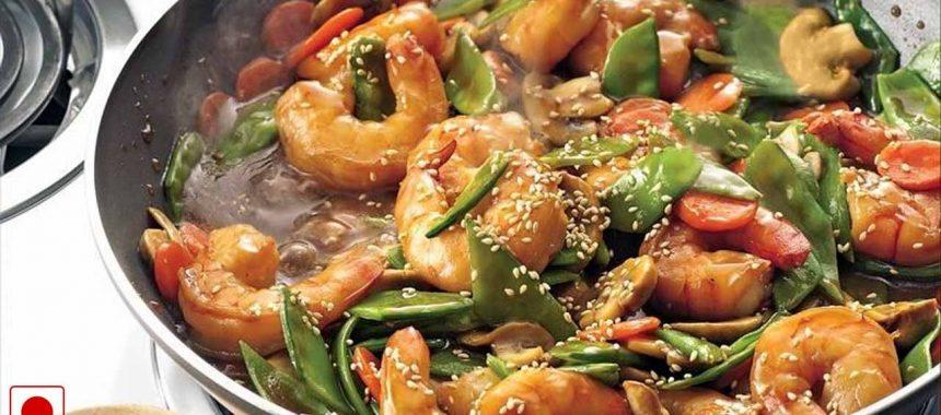 Stir Fried Spicy Szechuan Prawns Recipe