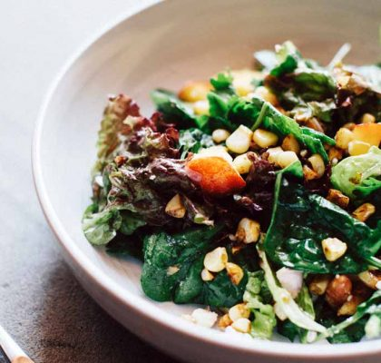 greens topped with corn recipe by rasoi menu