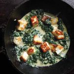 Paneer Spinach and Baked Beans