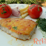 Baked Fish with Green Chutney