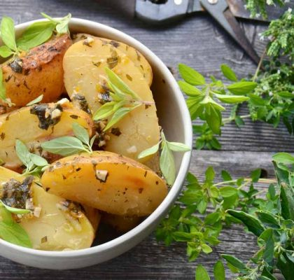 Baked Potatoes with Oregano Recipe