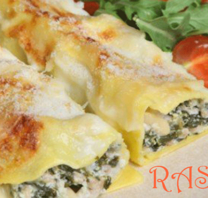 Cheesy Salmon Cannelloni Recipe