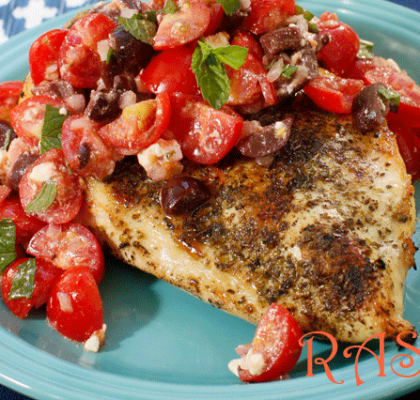 Chicken with Olives and Tomatoes Recipe