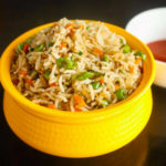 Veg Fried Rice with Tofu Curry