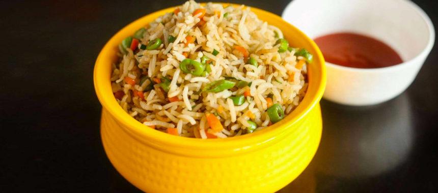 Veg Fried Rice with Tofu Curry Recipe