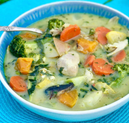 Chicken and Mixed Vegetable Soup Recipe