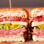 Italian Chicken Salami Club Sandwich