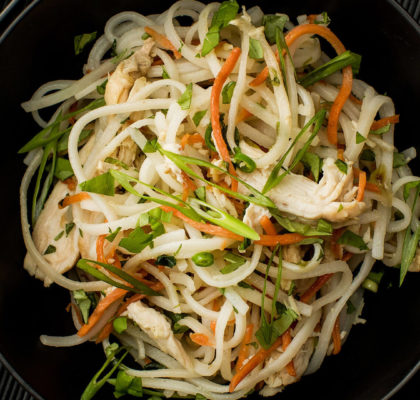 Chicken and Rice Noodle Stir-Fry Recipe