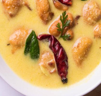 Punjabi Kadhi with Rice Balls Recipe
