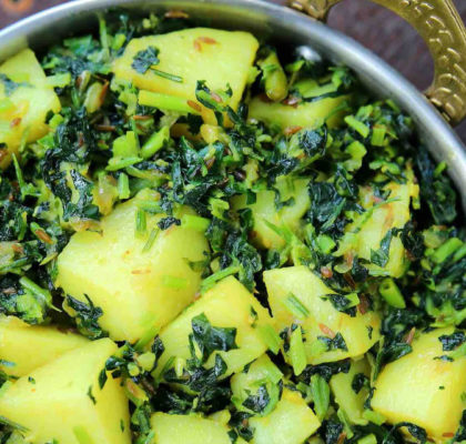 Saunfwali Aloo Methi Recipe