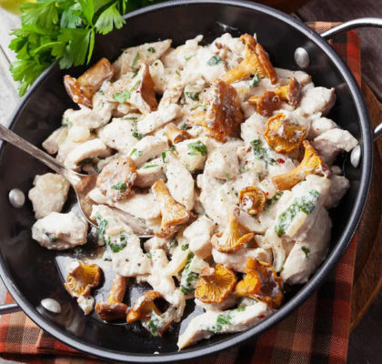 Chicken and Mushroom Salad Recipe