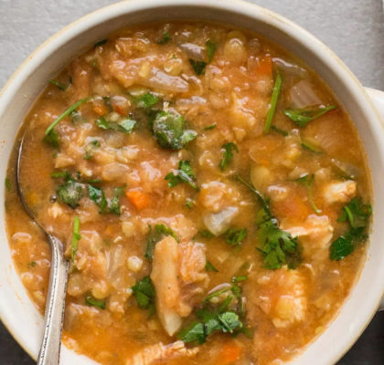 Chicken Soup With Red Lentils Recipe