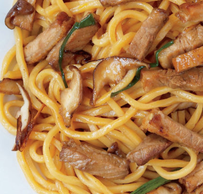 Citrus Pork with Egg Noodles Recipe