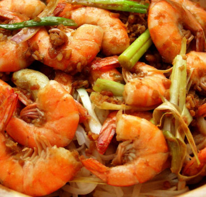 Prawns With Onion Recipe
