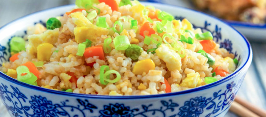 Stir Fried Rice With Peppers Recipe