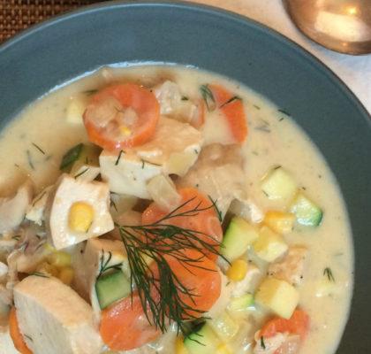 Summer Chicken Soup Recipe